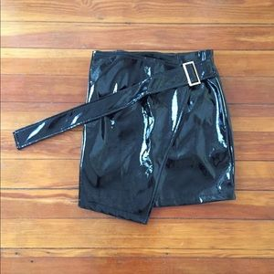 NWOT Patent fashion nova mini skirt